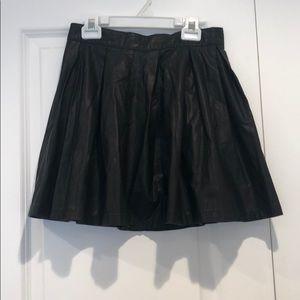 Forever 21 Pleather Skater Skirt
